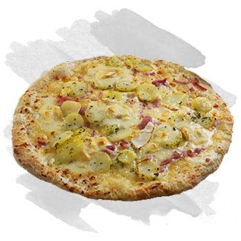 Pizza creme fraiche à salon de provence